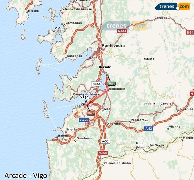 Karte vergrößern Züge Arcade Vigo