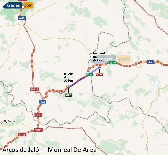 Ingrandisci la mappa Treni Arcos de Jalón Monreal De Ariza