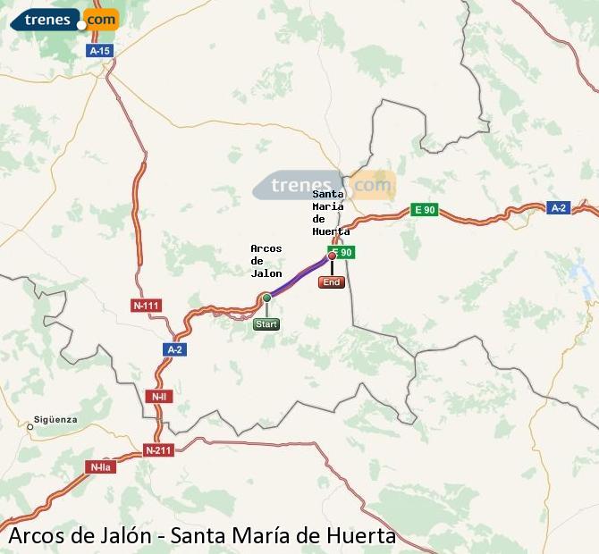 Ingrandisci la mappa Treni Arcos de Jalón Santa María de Huerta
