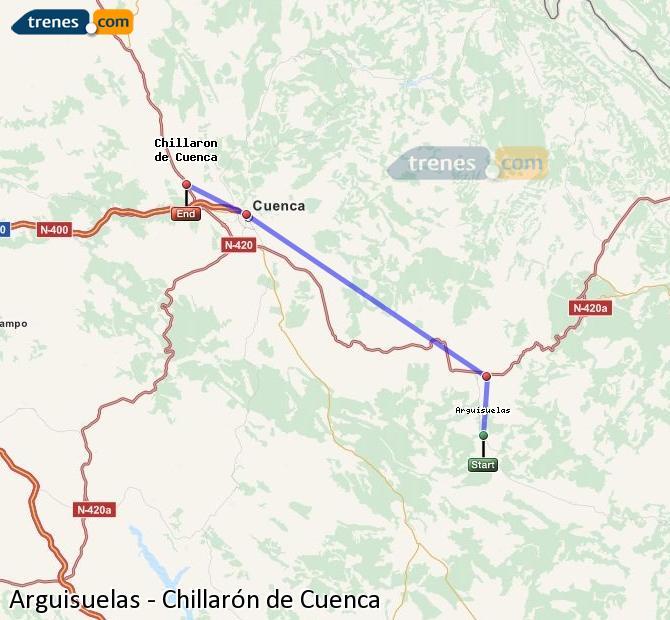 Ingrandisci la mappa Treni Arguisuelas Chillarón de Cuenca