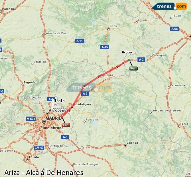 Karte vergrößern Züge Ariza Alcalá De Henares