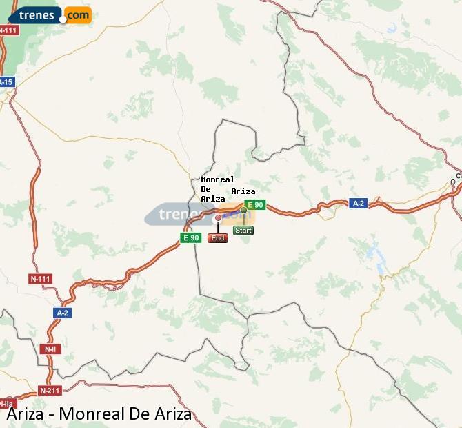 Ingrandisci la mappa Treni Ariza Monreal De Ariza