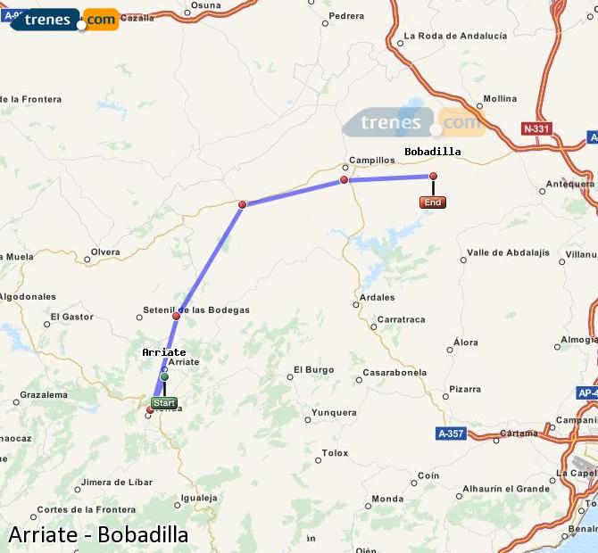 Agrandir la carte Trains Arriate Bobadilla