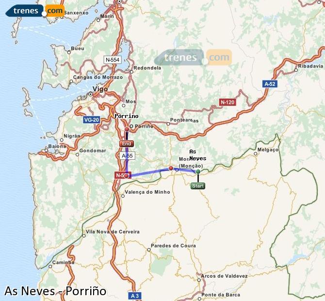 Karte vergrößern Züge As Neves Porriño