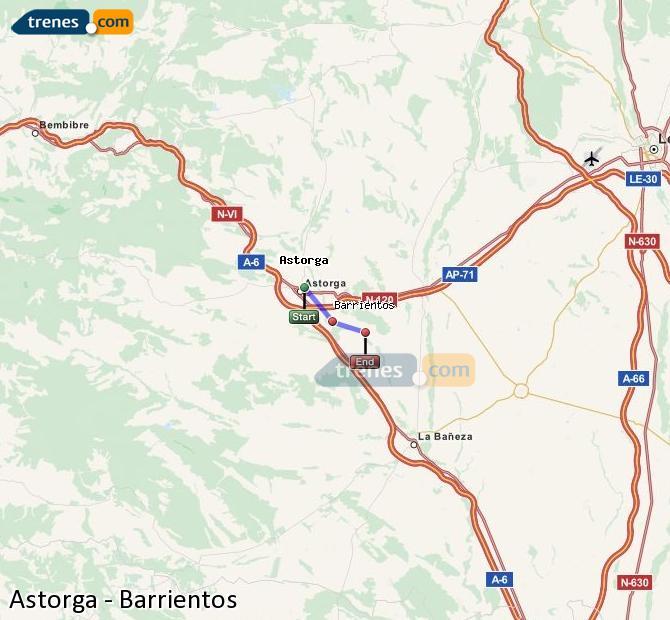 Ampliar mapa Trenes Astorga Barrientos