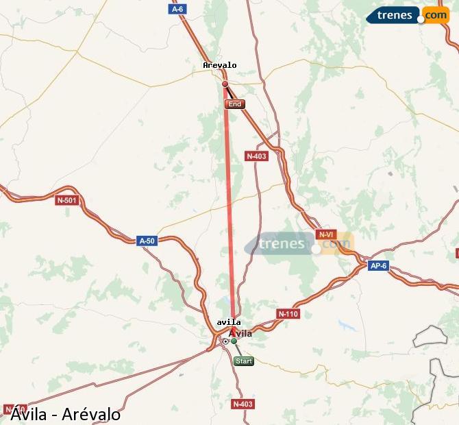 Ingrandisci la mappa Treni Ávila Arévalo