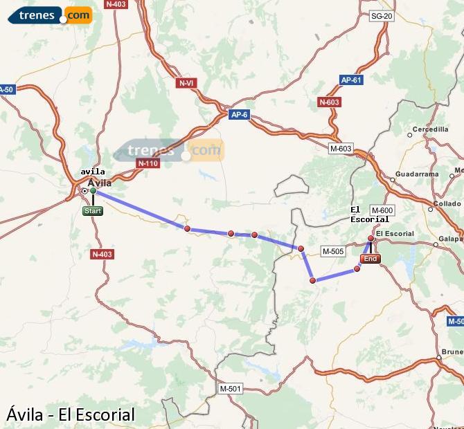 Ingrandisci la mappa Treni Ávila El Escorial