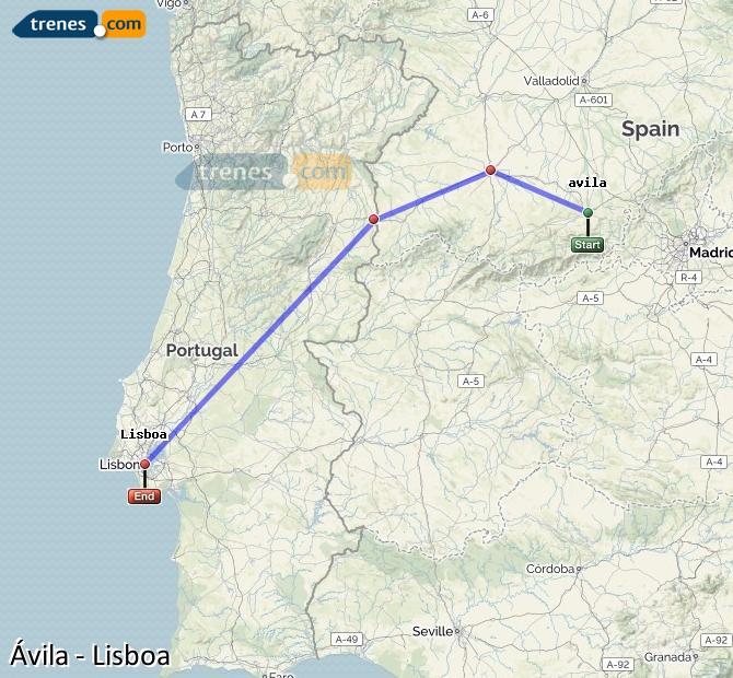 Karte vergrößern Züge Ávila