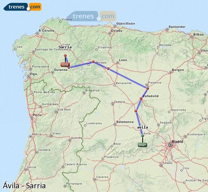Ingrandisci la mappa Treni Ávila Sarria