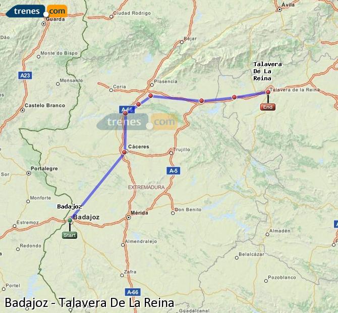 Ampliar mapa Comboios Badajoz Talavera De La Reina