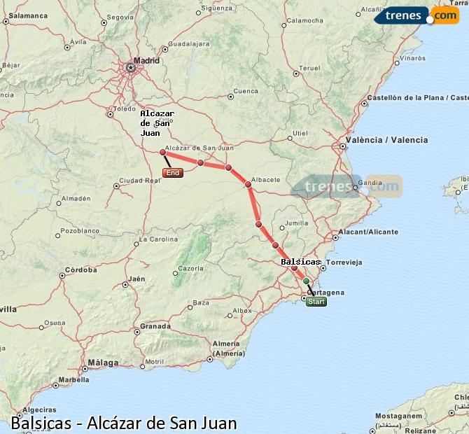 Ingrandisci la mappa Treni Balsicas Alcázar de San Juan