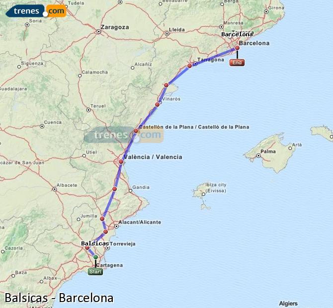 Agrandir la carte Trains Balsicas Barcelone