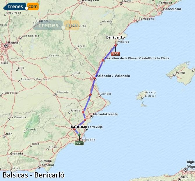 Enlarge map Trains Balsicas to Benicarló