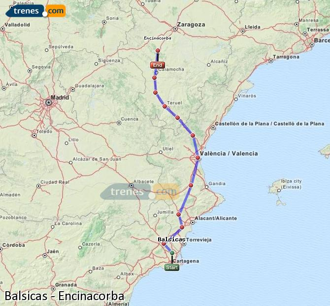 Enlarge map Trains Balsicas to Encinacorba