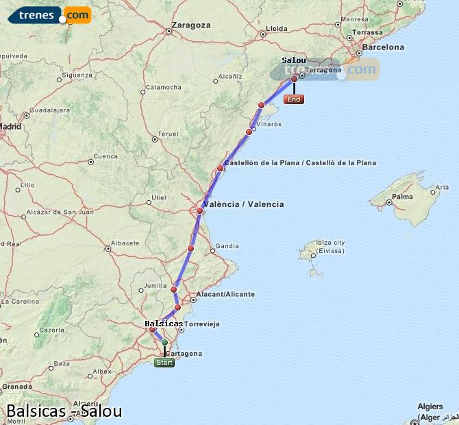 Enlarge map Trains Balsicas to Salou