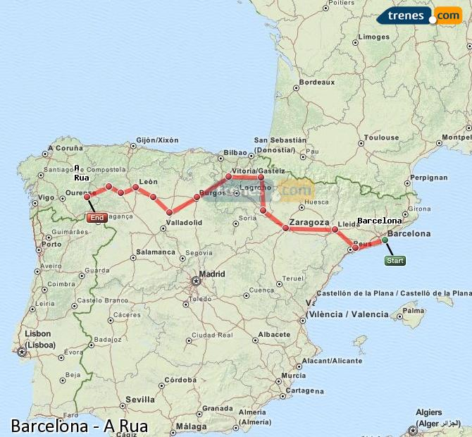 Agrandir la carte Trains Barcelone A Rua