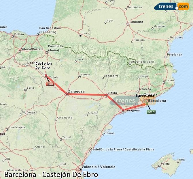 Karte vergrößern Züge Barcelona Castejón De Ebro