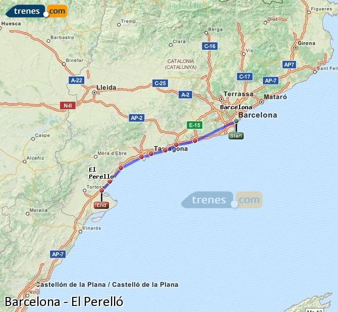 Ampliar mapa Trenes Barcelona El Perelló