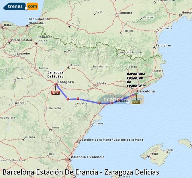 Trenes barcelona estaci n de francia zaragoza delicias for Como ir de barcelona a francia