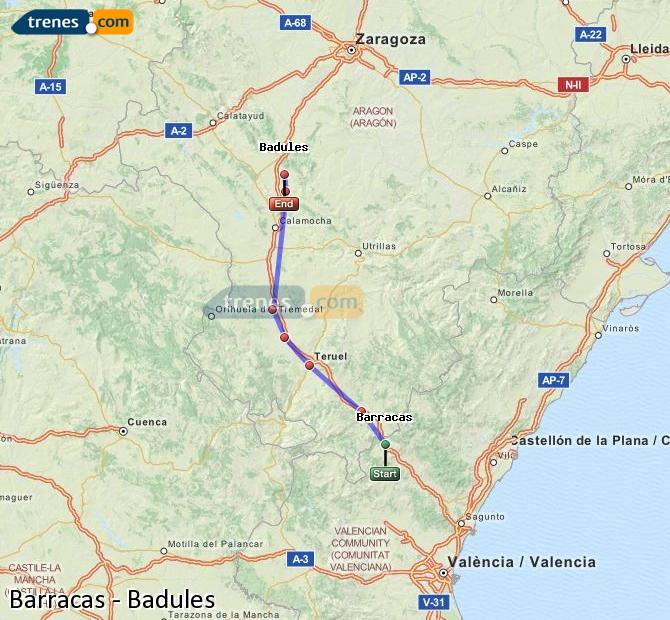 Ingrandisci la mappa Treni Barracas Badules