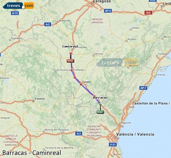 Enlarge map Trains Barracks to Caminreal