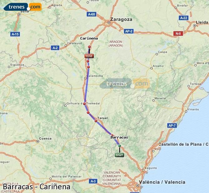 Ampliar mapa Trenes Barracas Cariñena