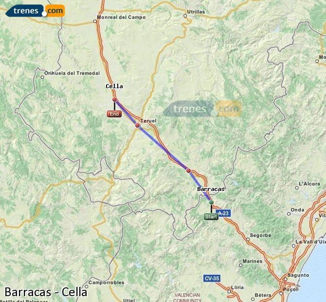 Enlarge map Trains Barracks to Cella