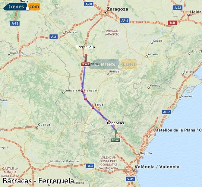 Enlarge map Trains Barracks to Ferreruela