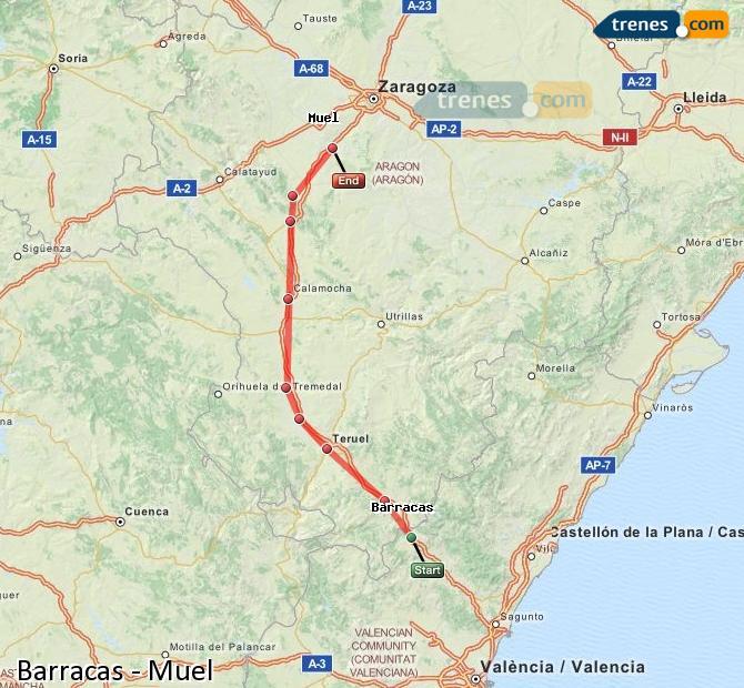 Ingrandisci la mappa Treni Barracas Muel