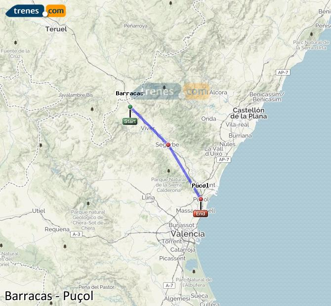 Ampliar mapa Trenes Barracas Puçol