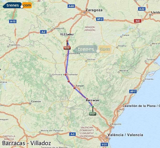 Ingrandisci la mappa Treni Barracas Villadoz