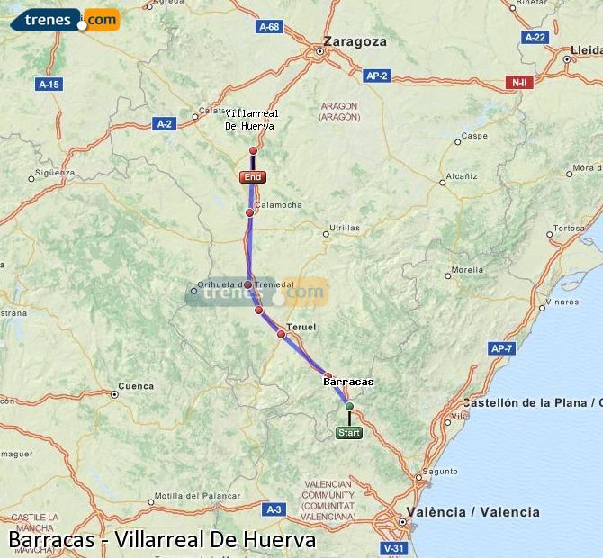 Ingrandisci la mappa Treni Barracas Villarreal De Huerva
