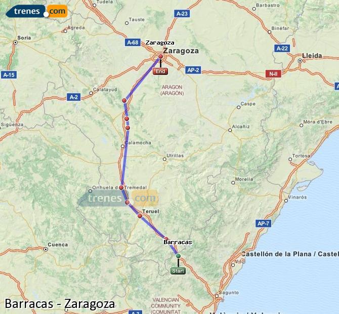 Ampliar mapa Trenes Barracas Zaragoza