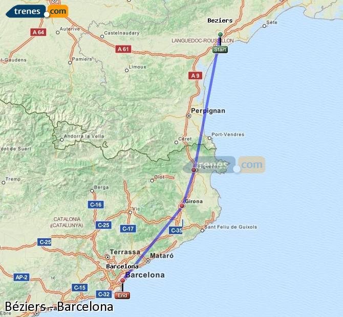 Cheap Bziers to Barcelona trains tickets from 2100 Trenescom
