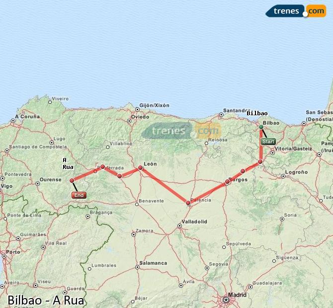 Karte vergrößern Züge Bilbao A Rua