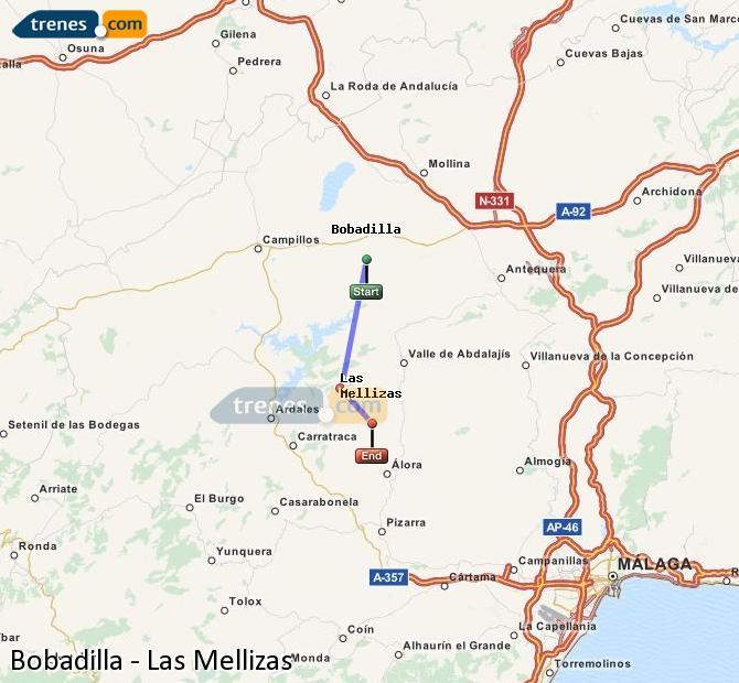Ampliar mapa Trenes Bobadilla Las Mellizas