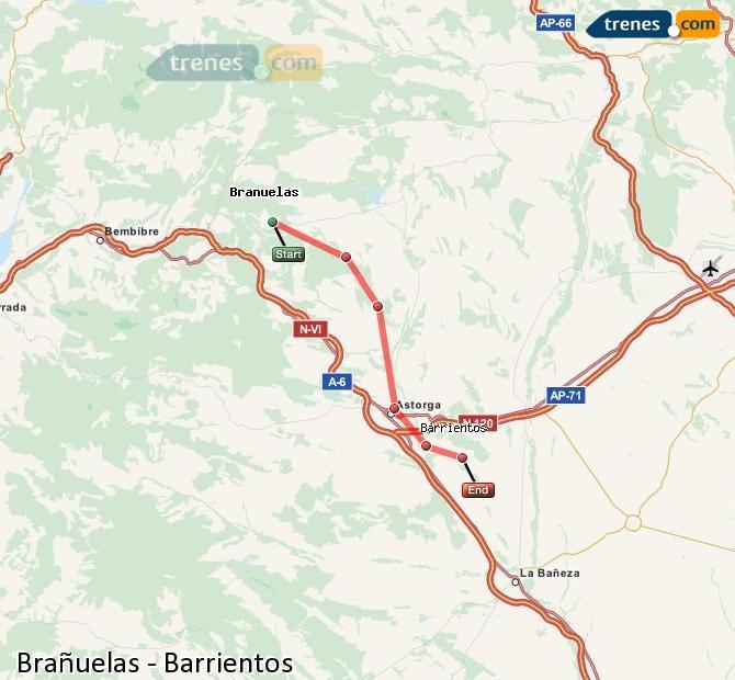 Enlarge map Trains Brañuelas to Barrientos