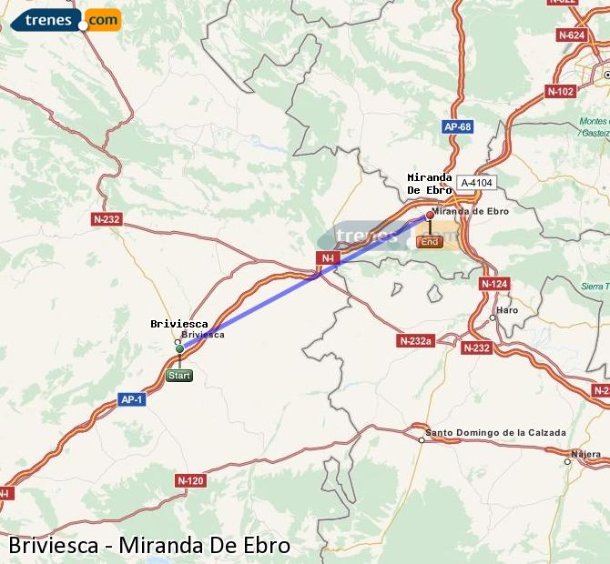 Karte vergrößern Züge Briviesca Miranda De Ebro