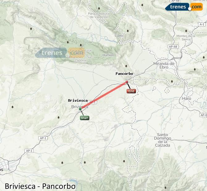 Karte vergrößern Züge Briviesca Pancorbo