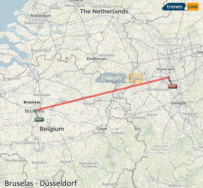 Karte vergrößern Züge Brüssel Düsseldorf