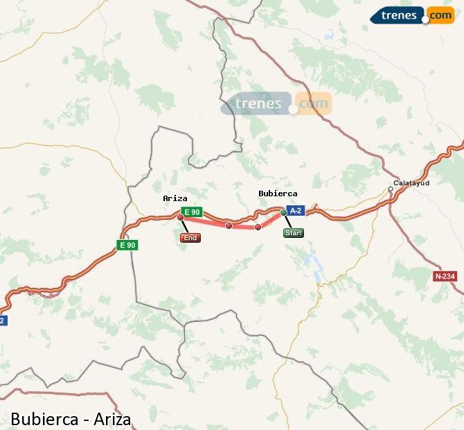 Ingrandisci la mappa Treni Bubierca Ariza