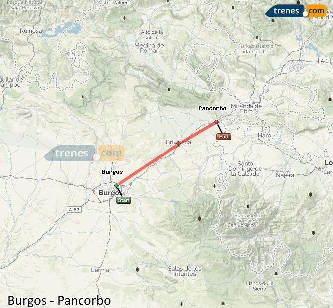 Agrandir la carte Trains Burgos Pancorbo