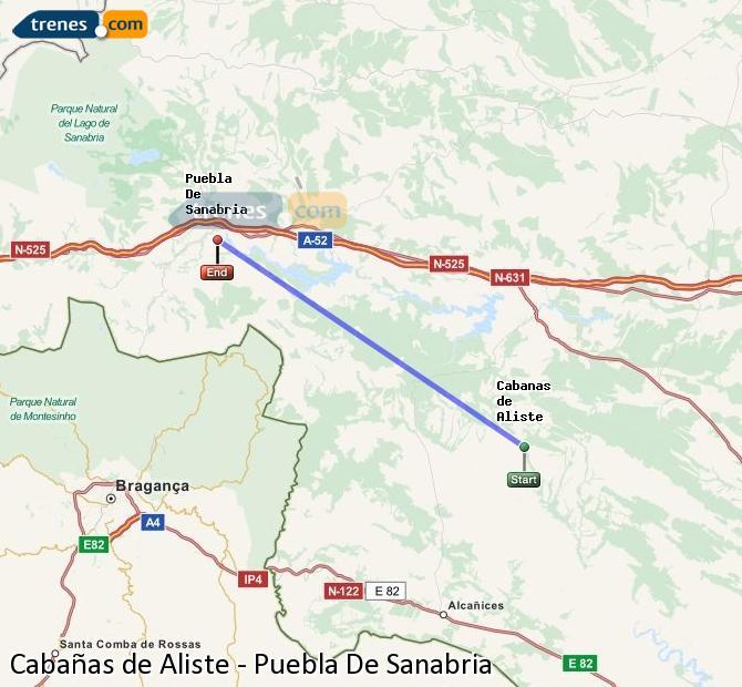 Ampliar mapa Trenes Cabañas de Aliste Puebla De Sanabria