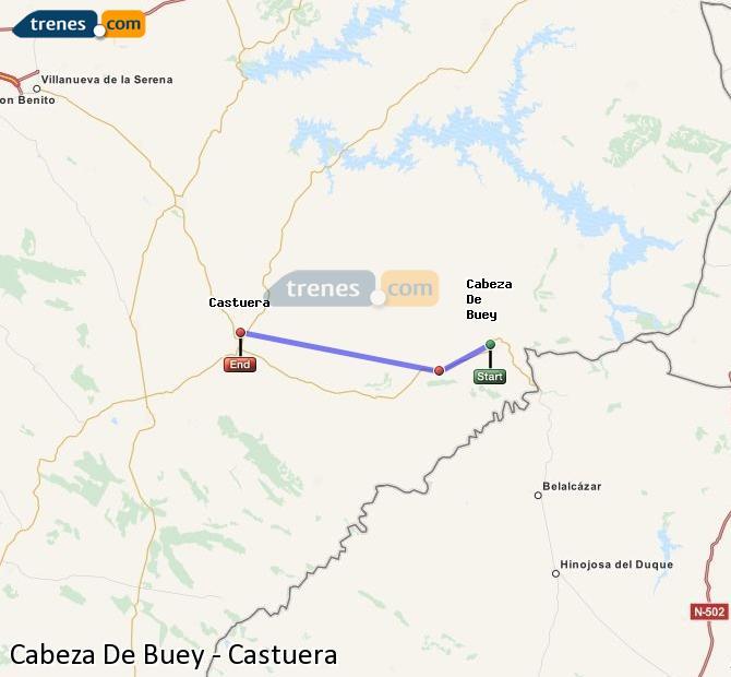 Ingrandisci la mappa Treni Cabeza De Buey Castuera