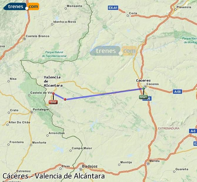 Cheap Caceres To Valencia De Alcantara Trains Tickets From 5 50