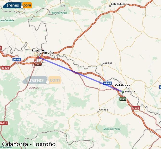 Ampliar mapa Trenes Calahorra Logroño