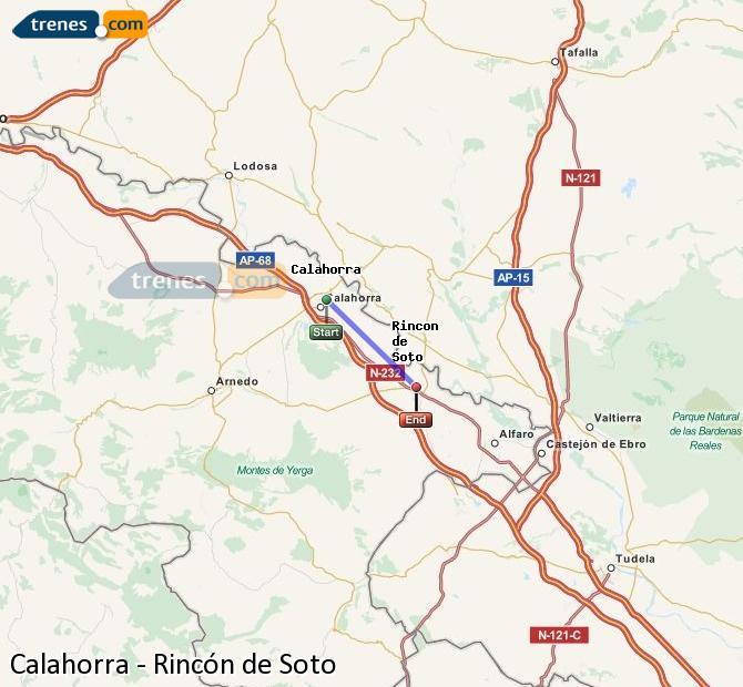 Karte vergrößern Züge Calahorra Rincón de Soto