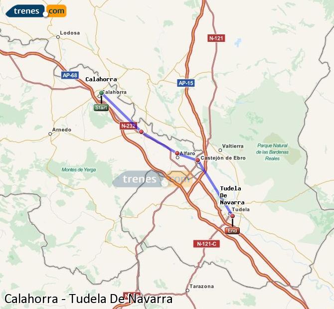 Ampliar mapa Trenes Calahorra Tudela De Navarra