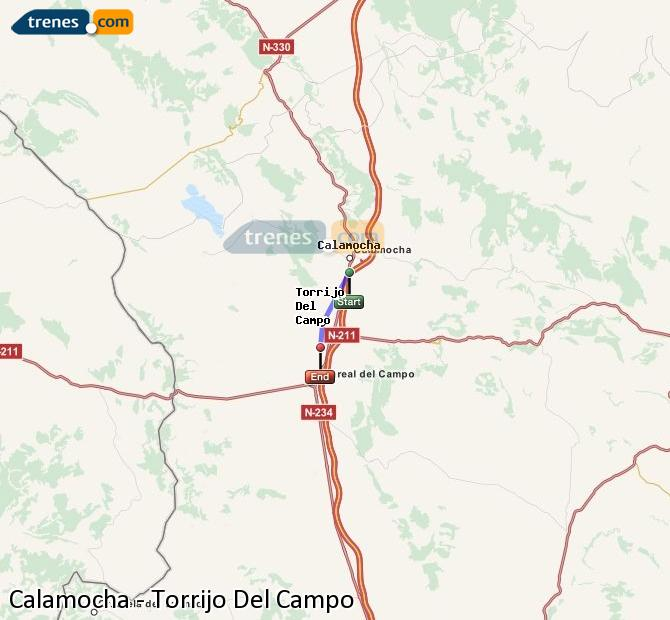Enlarge map Trains Calamocha to Torrijo Del Campo