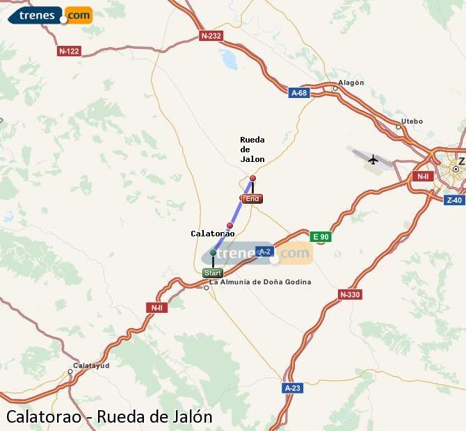 Ampliar mapa Comboios Calatorao Rueda de Jalón